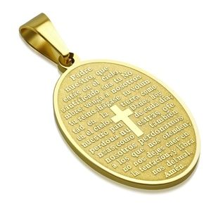 Jewelry - Gold Color Plated Stainless Steel Laser Printed